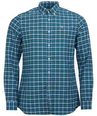 Men's Barbour Highland Check 22 Tailored Shirt - Green Check