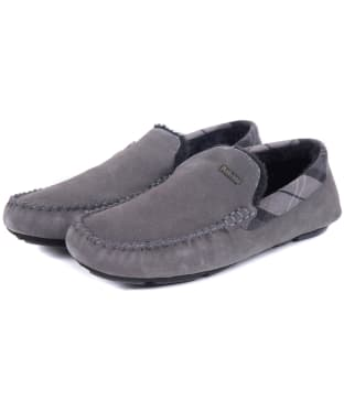 Men's Barbour Monty House Slippers - Grey Suede