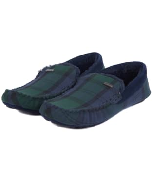 Men's Barbour Monty House Slippers - Black Watch Tartan