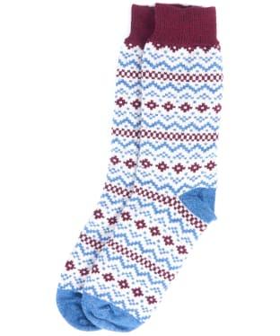 Men's Barbour Harrow Socks - Oatmeal / Denim