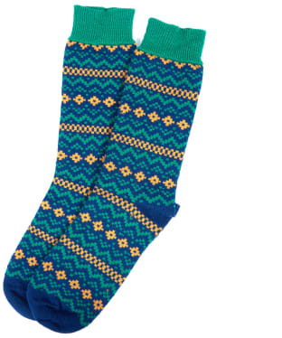 Men's Barbour Harrow Socks - Navy / Green