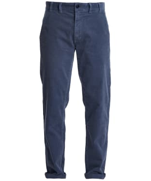 Men's Barbour Neuston Stretch Cord Trousers - Dark Chambray