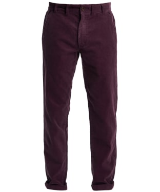 Men's Barbour Neuston Stretch Cord Trousers - Merlot