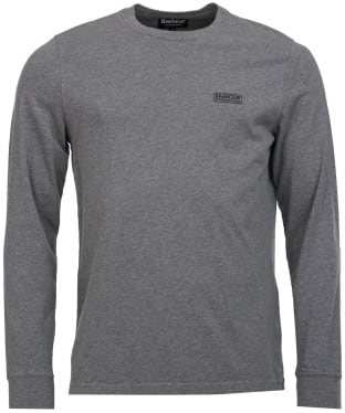 Men's Barbour International Long Sleeve Logo Tee - Anthracite Marl