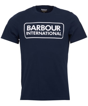Men's Barbour International Essential Large Logo Tee - International Navy