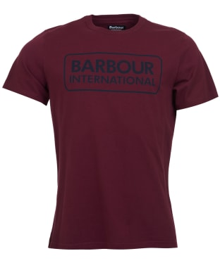 Men's Barbour International Essential Large Logo Tee - Merlot