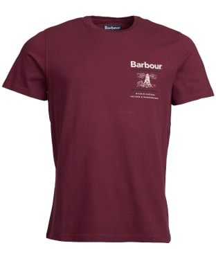 Men's Barbour Reed Tee - Merlot