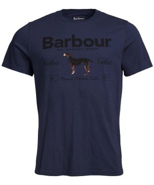 Men's Barbour Country Tee - Navy / Dog