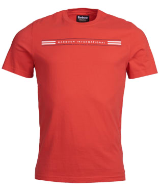 Men's Barbour International Sportster Tee - Red Orange
