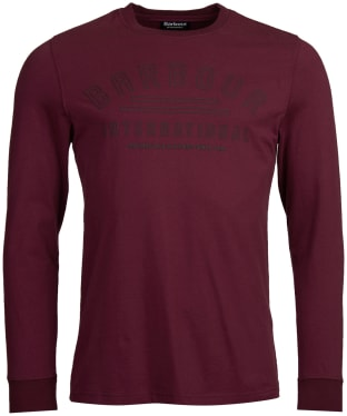 Men's Barbour International Pedal Long Sleeve Tee - Merlot