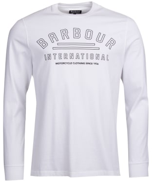 Men's Barbour International Pedal Long Sleeve Tee - White