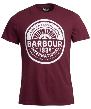 Men's Barbour International Vintage Tee - Merlot
