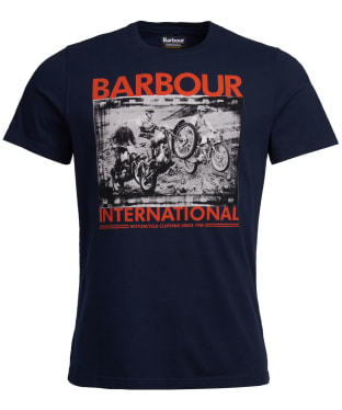 Men's Barbour International Archive Biker Tee - Navy