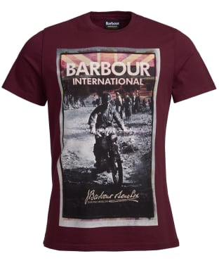 Men's Barbour International Archive Biker Tee - Merlot