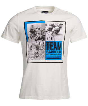 Men's Barbour International Archive Comp Tee - Whisper White