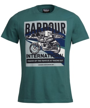 Men's Barbour International Perform Tee - Washed Green