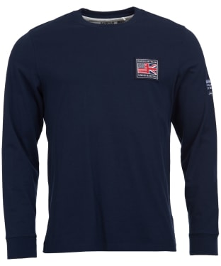 Men's Barbour Steve McQueen Team L/S Tee - Navy