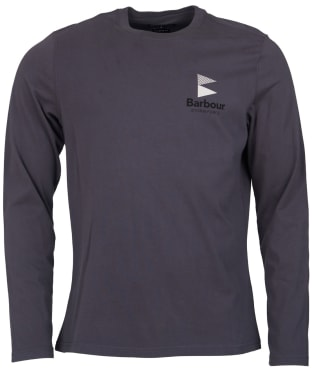 Men's Barbour Souter Long Sleeved Tee - Ebony