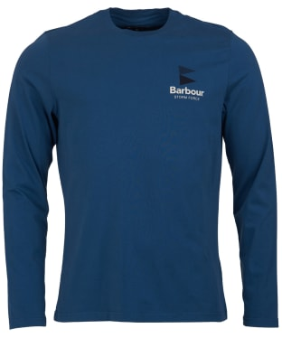 Men's Barbour Souter Long Sleeved Tee - Deep Sea