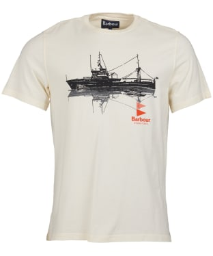 Men's Barbour Lowestoft Tailored Tee - Off White