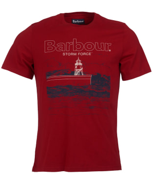 Men's Barbour Fareland Tee - Crimson