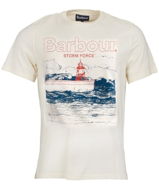 Men's Barbour Fareland Tee - Off White