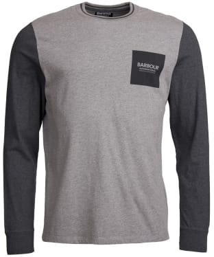 Men's Barbour International Glide Long Sleeve Tee - Anthracite Marl