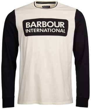 Men's Barbour International Glide Long Sleeve Tee - Whisper White