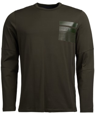 Men's Barbour International Caliper Long Sleeve Tee - Forest