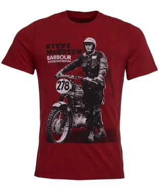Men's Barbour Steve McQueen Stand and Ride Tee - Washed Red