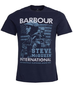 Men's Barbour Steve McQueen Collage Tee - Navy