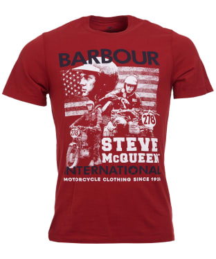 Men's Barbour Steve McQueen Collage Tee - Washed Red