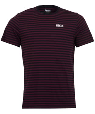 Men's Barbour International Equal Stripe Tee - Merlot
