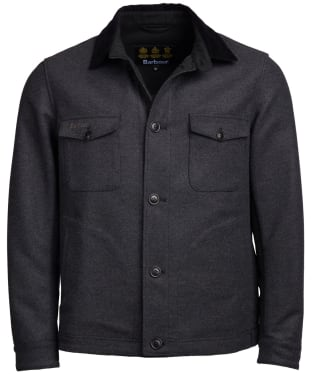 Men's Barbour Saxilby Wool Jacket - Charcoal