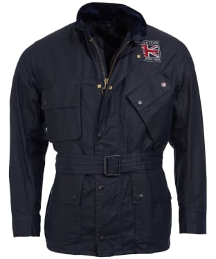 Men's Barbour Steve McQueen Joshua Wax Jacket - Navy