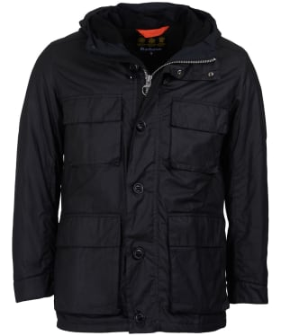Men's Barbour Genoa Waxed Jacket - Black