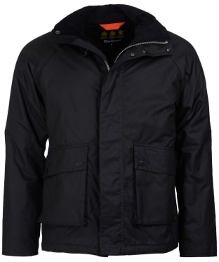 Men's Barbour Fohn Waxed Jacket - Black