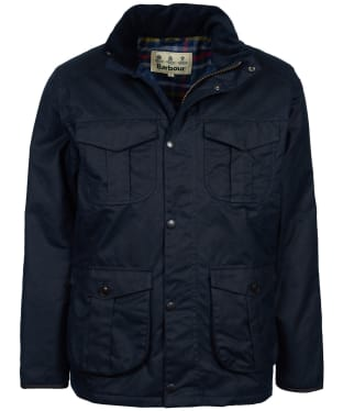 Men's Barbour Latrigg Waxed Jacket - Navy