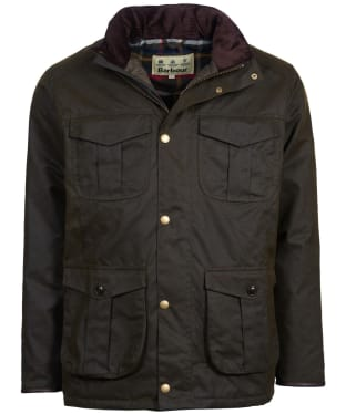 Men's Barbour Latrigg Waxed Jacket - Olive