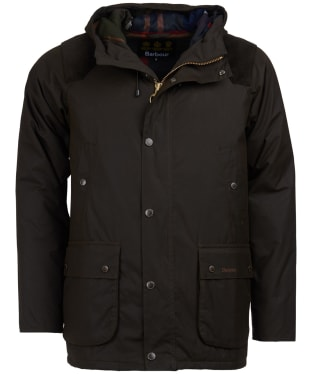 Men's Barbour Louth Waxed Jacket - Olive