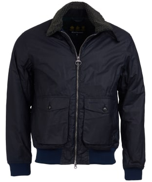 Men's Barbour Goosall Waxed Jacket - Navy