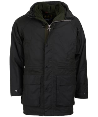 Men's Barbour Fenton Waxed Parka Jacket - Sage