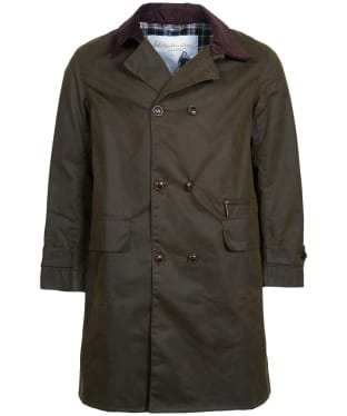Men's Barbour Icons Haydon Waxed Jacket - Olive