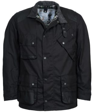 Men's Barbour Icons International Waxed Jacket - Black