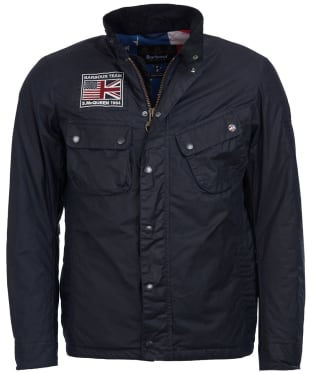 Men's Barbour Steve McQueen Lightweight 9665 Waxed Jacket - Navy
