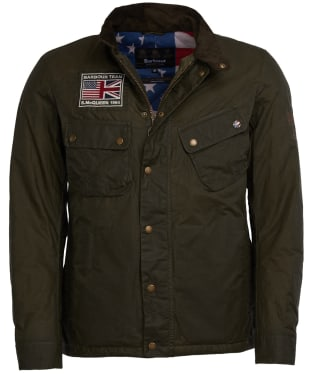 Men's Barbour Steve McQueen Lightweight 9665 Waxed Jacket - Archive Olive
