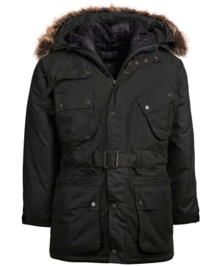 Men's Barbour International Ergo Wax Parka Jacket - Forest