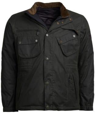 Men's Barbour International Nomic Wax Jacket - Forest