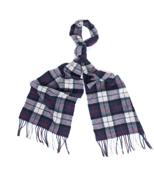 Barbour Tartan Lambswool Scarf - Blue / Grey