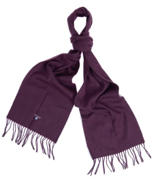 Barbour Plain Lambswool Scarf - Wine